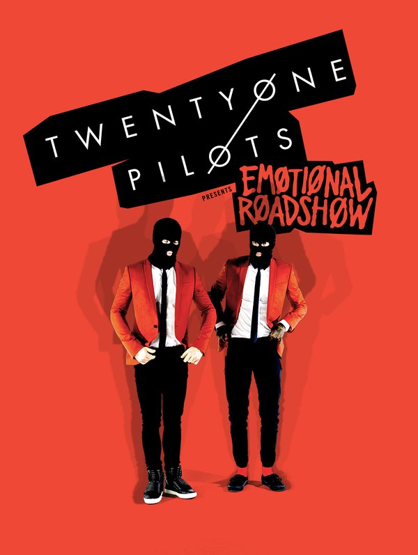 Twenty-One Pilots Emotional Roadshow promo poster