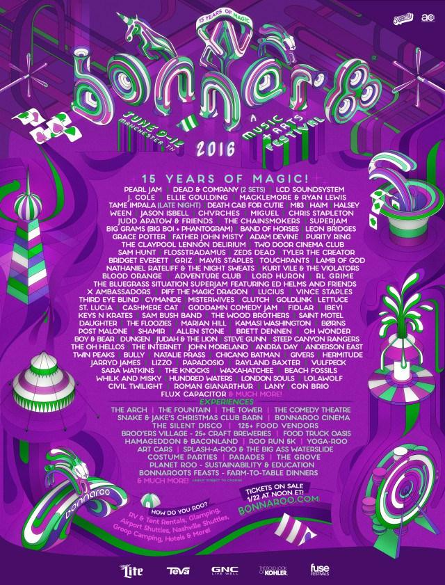 Bonnaroo 2016 Poster