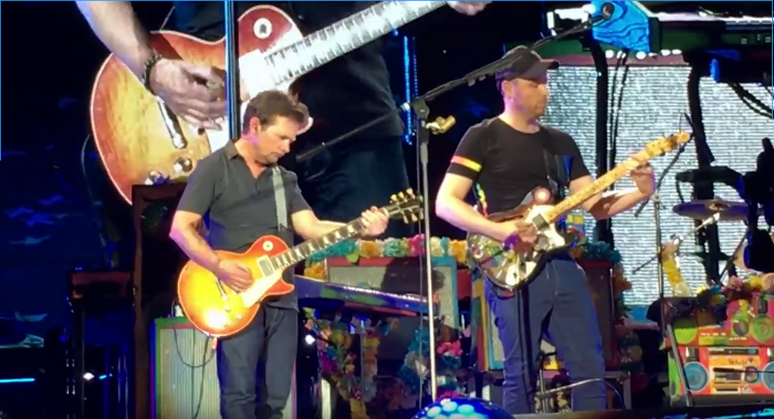Michael J Fox jams with Coldplay