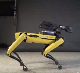 Dancing Robot Dog Uptown Funk